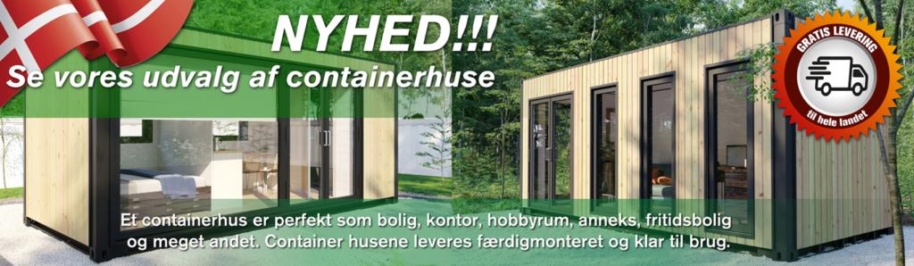 Se vores udvalg af containerhuse