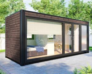 Ombygget container havehus med toilet og bad V-3