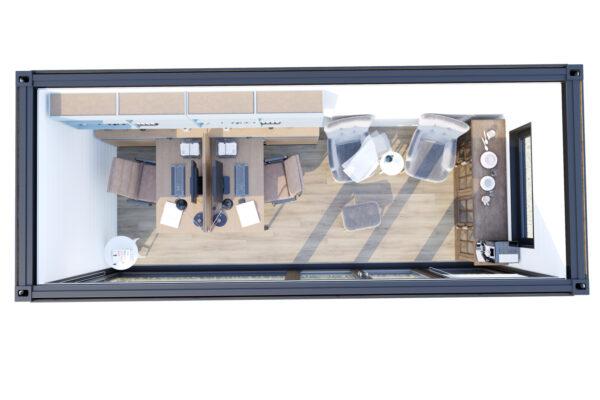 Ombygget skibscontainer hus V-5